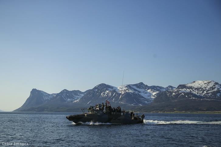 Amerikai hadi tengerészek gyakorlatoznak Norvégiában 2018-ban.