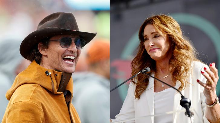 Matthew McConaughey és Caitlyn Jenner