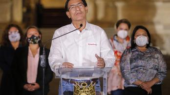 Belebukott a vakcinabotrányba, tíz évre eltiltották közhivatal viselésétől Peru elnökét