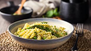 Citromos-spárgás spagetti borsóval – tökéletes tavaszi fogás alig fél óra alatt