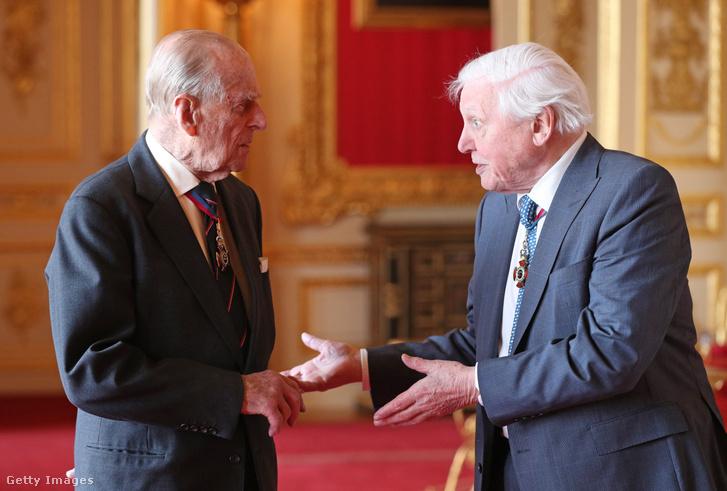 Fülöp herceg és Sir David Attenborough 2019-ben