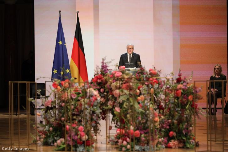 Frank-Walter Steinmeier beszédet mond