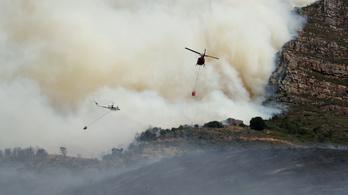 Hatalmas tűz volt Fokvárosban, egy tűzoltó megsérült