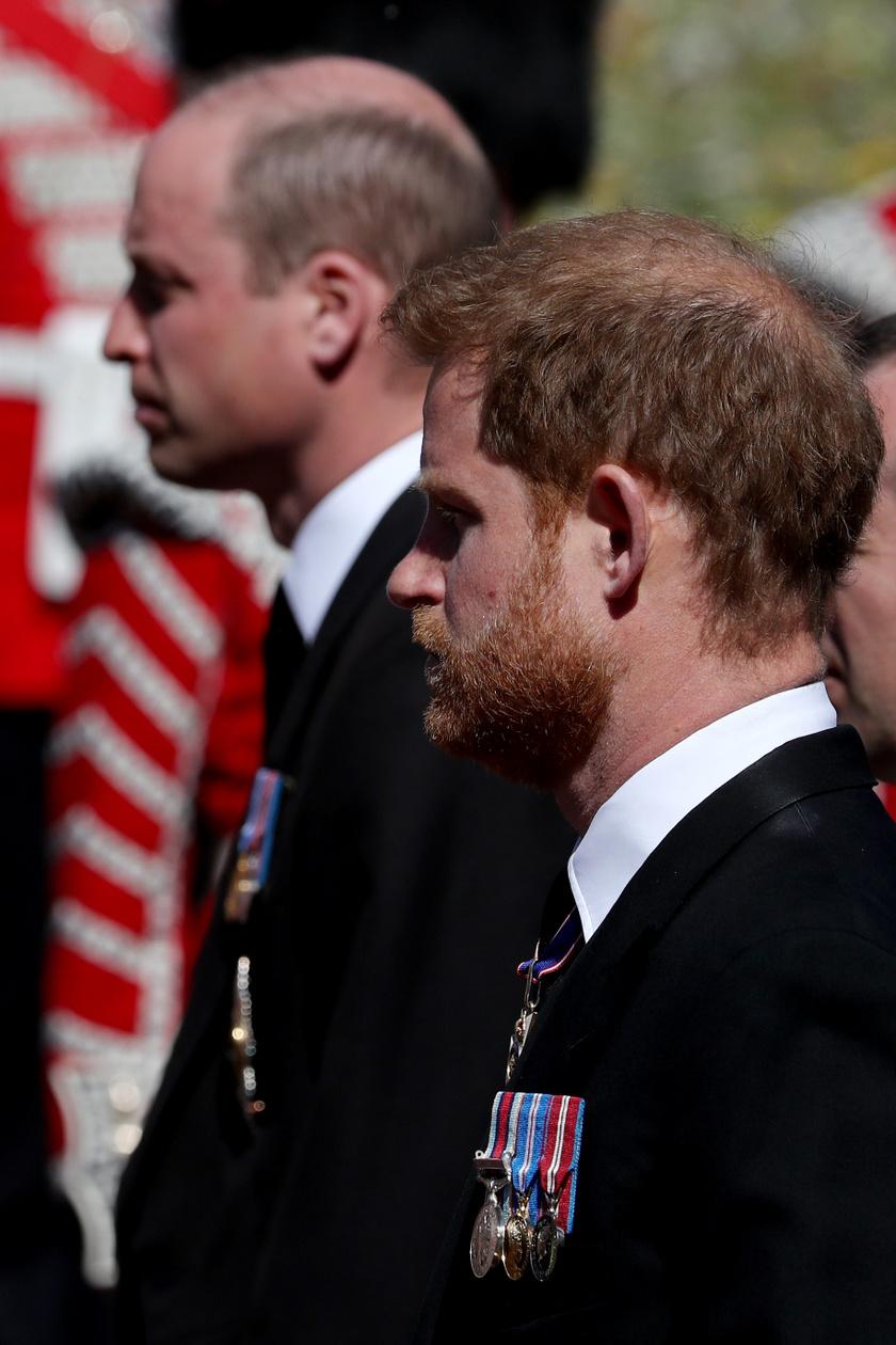 Ez a felvétel Fülöp herceg temetésén készült a hercegekről.