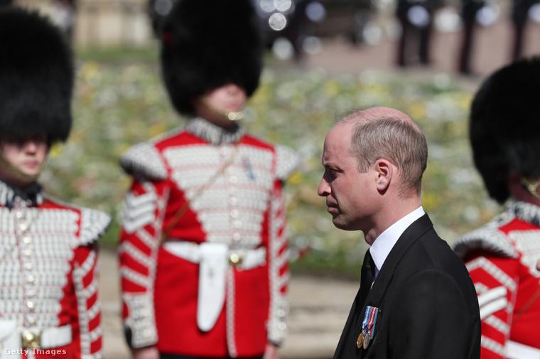 Vilmos herceg Fülöp herceg temetésén