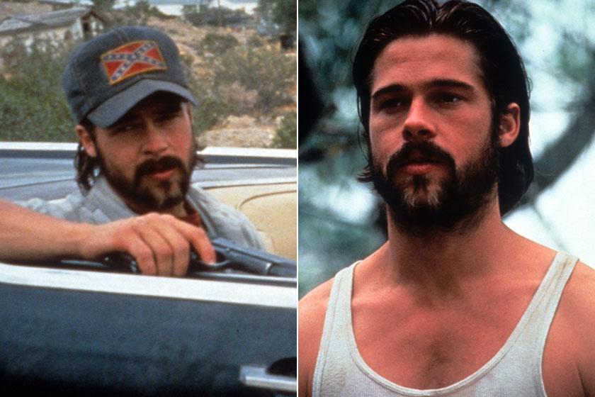 Brad Pitt az 1993-as Kalifornia - A halál nem utazik egyedül című film kedvéért alakult át drasztikusan karrierje elején.