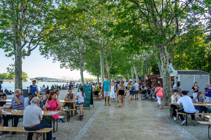 Vendéglátóhelyek Balatonfüred partjánál 2019-ben