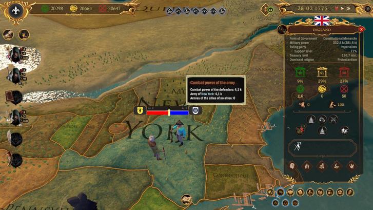 Míg zajlik az amerikai függetlenségi háború, addig a kép bal alsó részén látható testvér ügyködik tovább