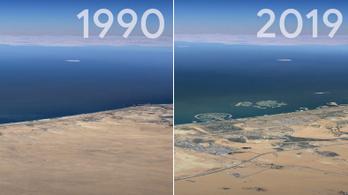 37 év pereg le a Google Earth videóján
