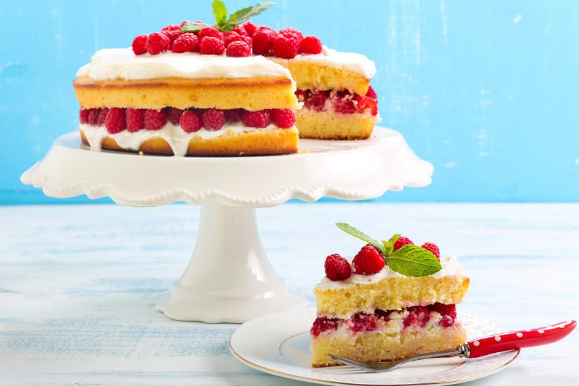 citromos málnás torta recept