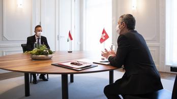 Svájci beruházásokat jelentett be Szijjártó Péter