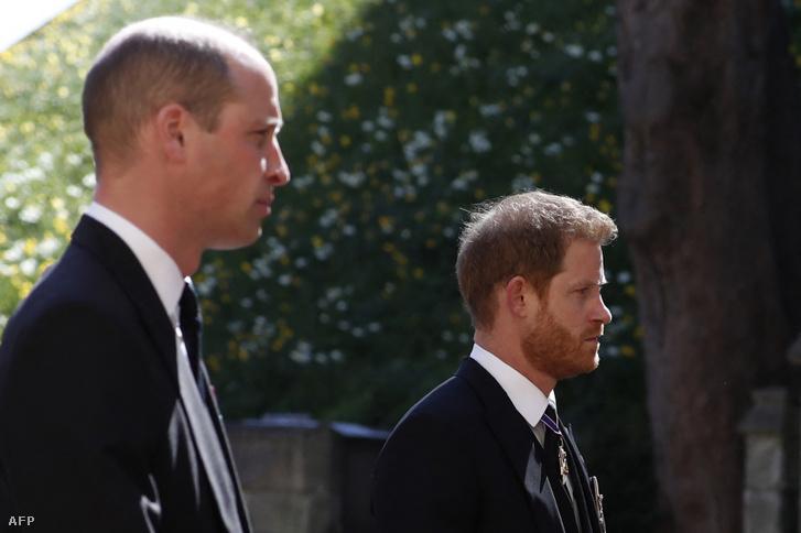 Harry és Vilmos herceg 2021. április 17-én