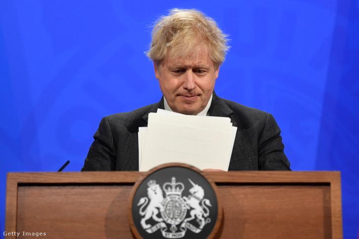 Boris Johnson sajtótájékoztatója a Downing Streeten 2021 április 20-án