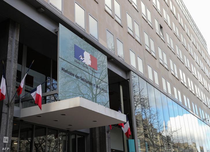 A francia egészségügyi minisztérium épülete Párizsban