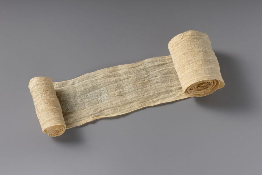 Kötözőpólya, amelyet a fáraó mumifikálásakor használhattak.