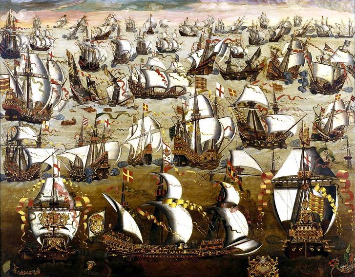 """A spanyolok""""legyőzhetetlen armadának""""hívták a hatalmas hajóhadukat, így kézenfekvő volt, hogy le is győzték azt az angolok 1588-ban"""