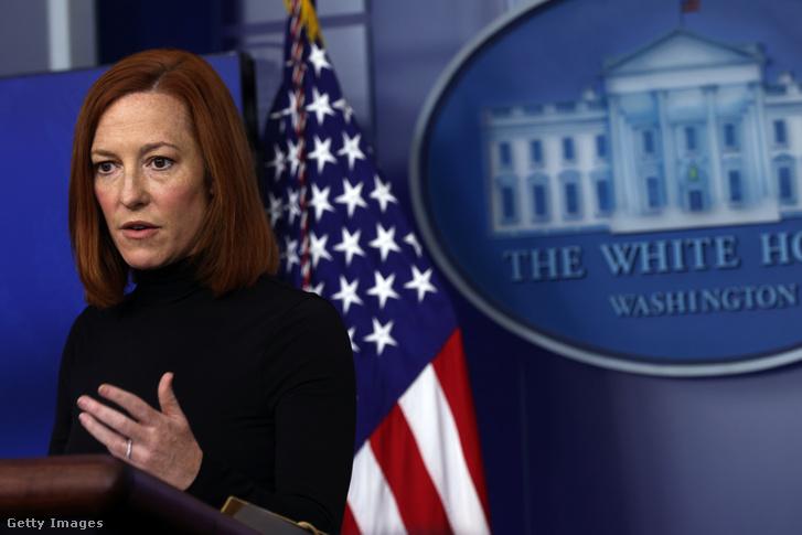 Jen Psaki, a Fehér Ház szóvivője