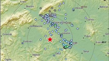 Újabb földrengést észleltek Horvátországban