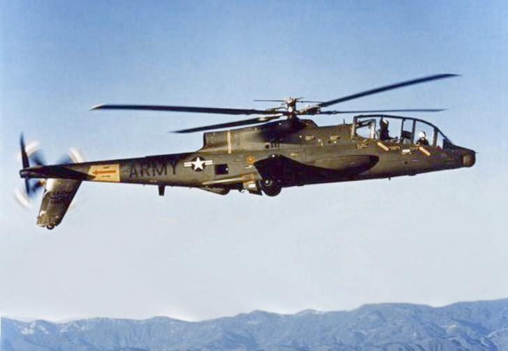Lockheed AH-56 Cheyenne, a hatvanas évek elvetett tolólégcsavaros típusa