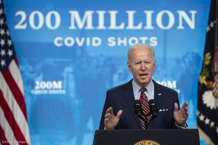 Joe Biden bejelenti a 200 milliomodik dózis vakcinát