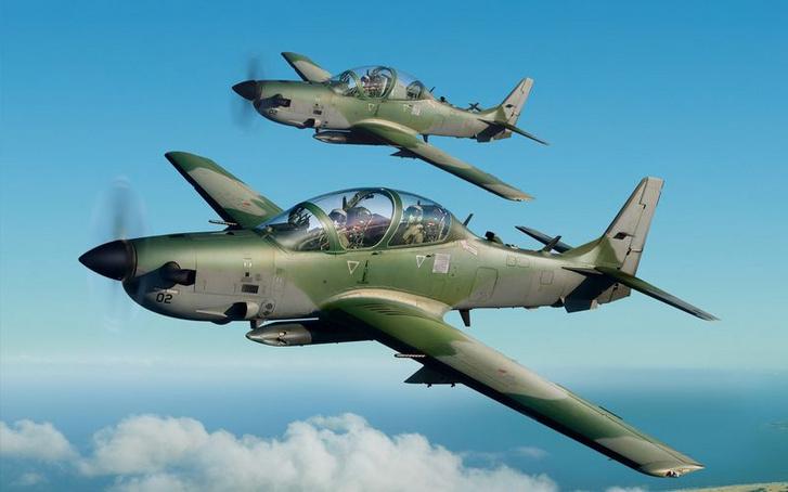 Super Tucano kötelék, amerikai nevén A-29.