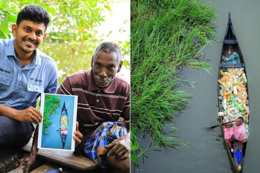Egyetlen képtől megváltozott az élete: a 72 éves mozgássérült férfi 15 éve tisztítja az indiai vizeket a szeméttől
