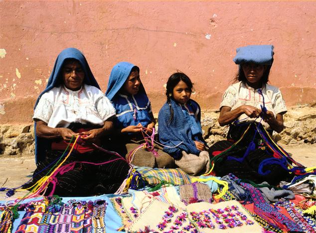 Mexikó: Chiapasi lányok, asszonyok