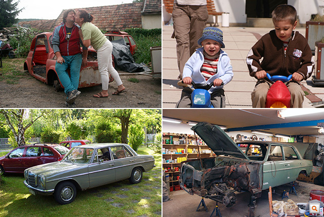 2006-2007: A donor-Fiat bontás alatt Karesznál, már együtt játszanak a gyerekek, Bazeg családtaggá válik és nagyon szeretjük, Csabi elkezdi lakatolni a zöld Mercit, és halad, mint egy dervis