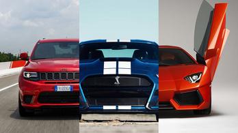 Ezek Magyarország legerősebb autói