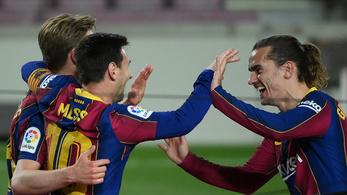 A hibátlan Messi CR-re, a Barca a Realra tapad a kiütéssel