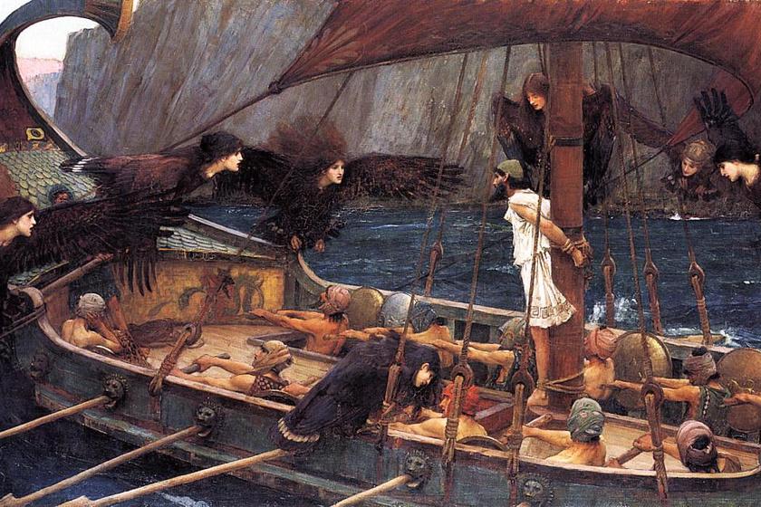 Odüsszeusz és legénysége a szirének dalát nem hallották.