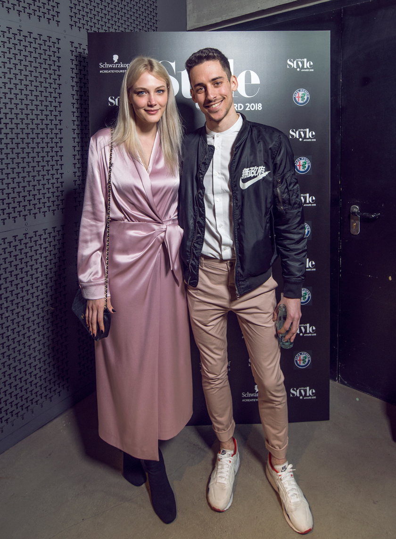 A 2018-as InStyle Awardon párjával, Bernát Bianka modellel, akit rendezett is már reklámban.