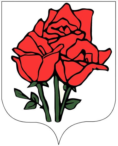 A Rózsa-szigeti Köztársaság címere.
