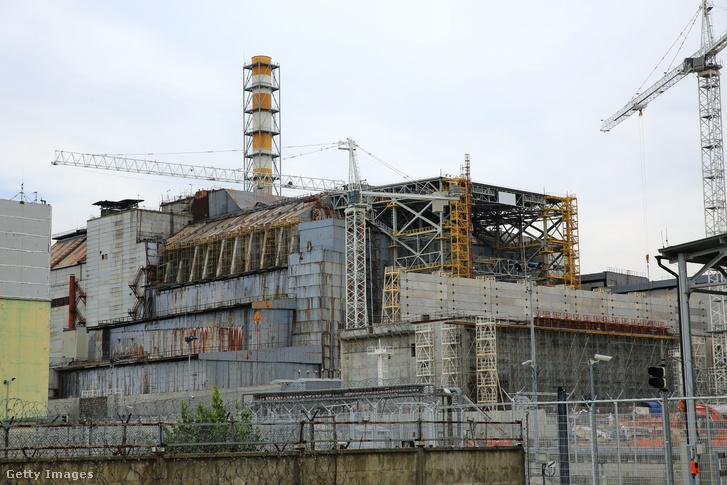 A csernobili atomerőmű négyes blokkja