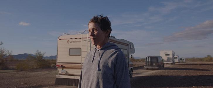 Frances McDormand a Nomadland című filmben