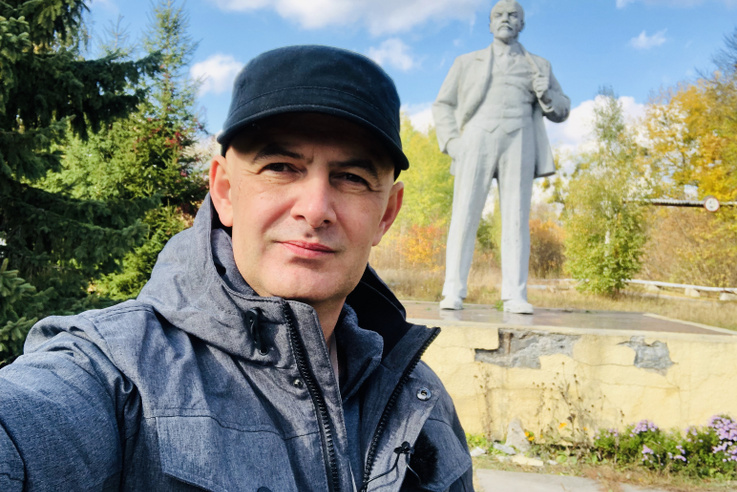 Csernobilban még áll egy Lenin szobor