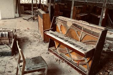Hangszerbolt Pripjatyban.