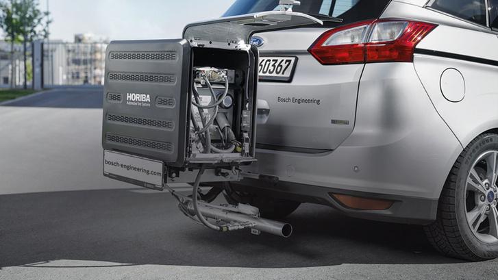 A valós forgalomban végzett méréseknél a kipufogógázokat egy az autóra szerelt berendezés elemzi menet közben
