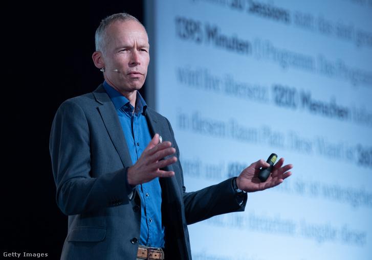 Johan Rockstrom vezető klímatudós 2019. május 8-án