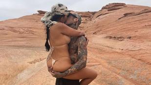 Kourtney Kardashian és Travis Barker smárolós képénél forróbb friss posztot nem találtunk az Instán