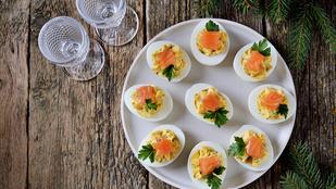 Tökéletes reggeli, vacsora és vendégváró: töltött tojás füstölt lazaccal