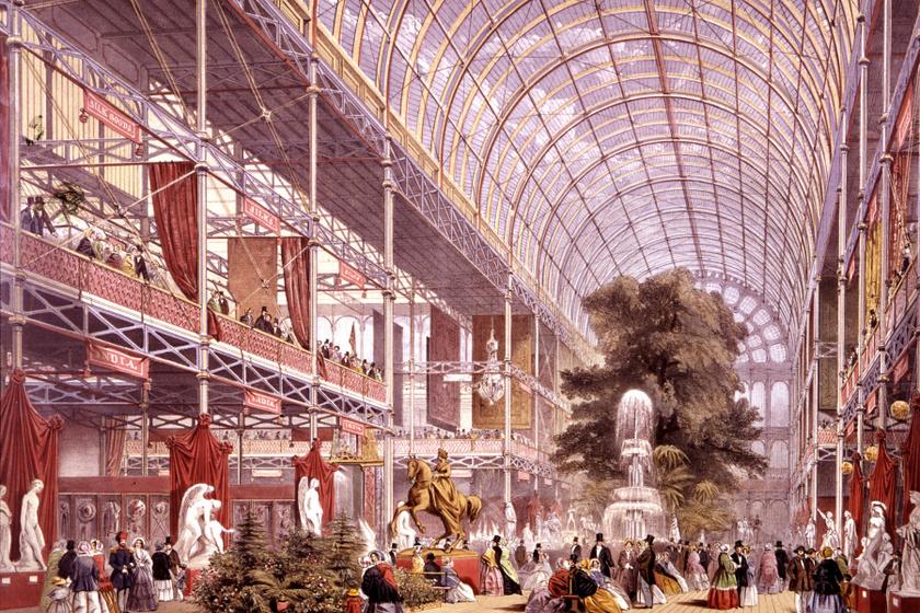 Az első világkiállítás, 1851., kristálypalota, London.