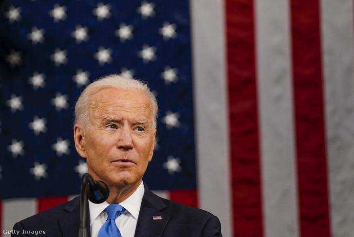 Joe Biden beszédet mond a kongresszus előtt 2021 április 29-én
