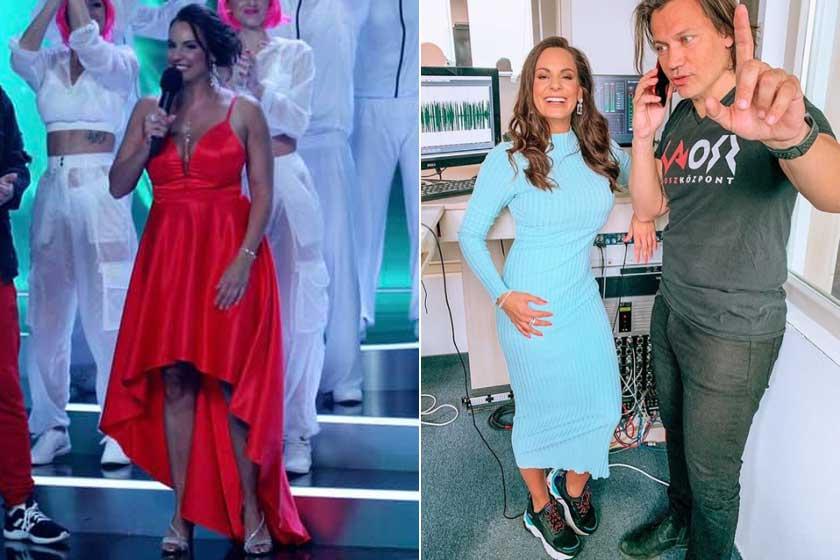 A bal oldali fotó 2020 júliusában készült róla a SzerencseSzombat felvételén, a jobb oldali pedig 14 kilós fogyása után, 2021 áprilisában.