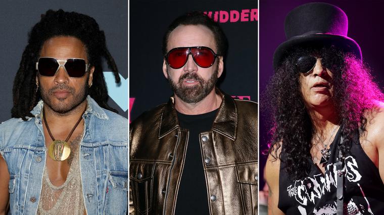 Lenny Kravitz, Nicolas Cage és SlashMég egy férfihármas, akiket történetesen a bőrruhák és a napszemüvegek szeretete mellett az egykori iskolájuk is összeköt