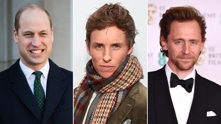 Vilmos herceg, Eddie Redmayne és Tom HiddlestonA herceg és a két színész egyszerre jártak Etonbe
