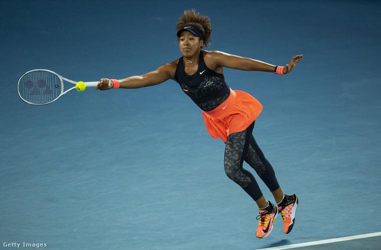Ez a kép február 20-án készült az Australian Openen Ószaka Naomi japán teniszezőről