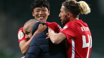 Egészen drámai mérkőzésen jutottak be Gulácsiék a Német Kupa döntőjébe
