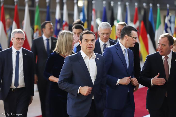 Alexis Tsipras 2019. március 22-én Brüsszelben