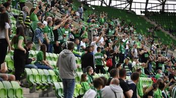 A visszatérő szurkolók előtt nyert a bajnok Ferencváros
